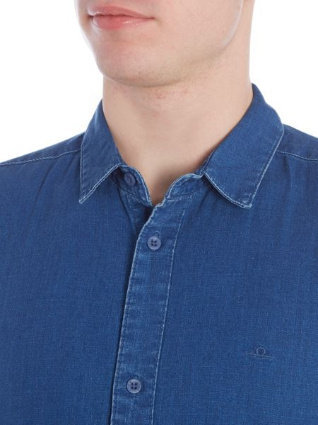Waven Mimir regular fit mid wash denim shirt