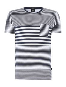 Hugo Boss Regular Fit Tiburt Striped T Shirt