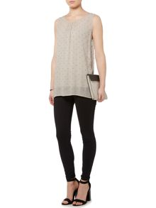 Gray & Willow Cora cluster bead embellished vest top