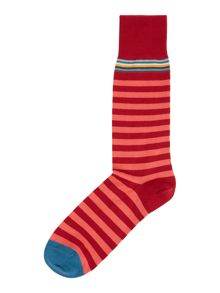 Multi-coloured top stripe socks