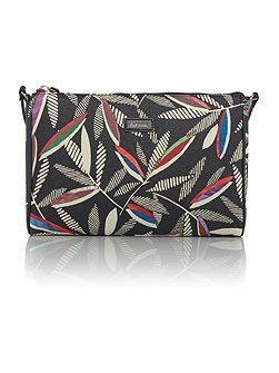 Rowan Leaf Black Cross Body Bag