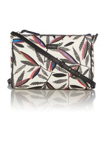 Paul Smith London Rowan leaf white cross body bag