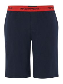 Pyjama short with contrast waistband