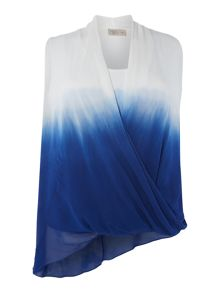 Label Lab Plus size dip dye asymmetric sleeveless top