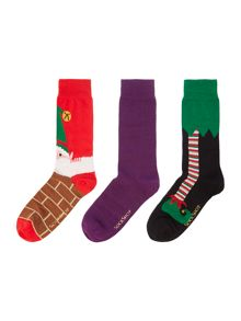 Elf and plain sock set