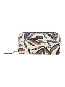 Paul Smith London Rowan leaf white ziparound purse