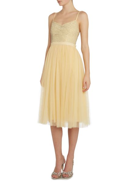 Needle and Thread Coppelia dress with tulle skirt