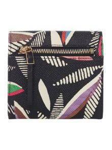 Paul Smith London Rowan leaf black compact wallet