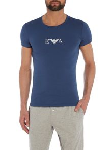 Armani Jeans Crew neck pyjama t-shirt with eagle design