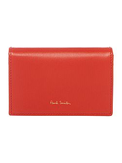 Colour block red credit card holder