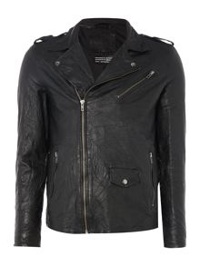 Jack & Jones Leather Biker Jacket