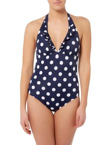 Dickins & Jones Spot built up triangle swimsuit