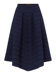 Hugo Boss Pleated stripe midi skirt