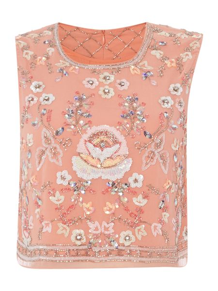 Needle and Thread Floral embellished top