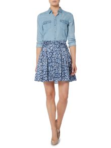 Hugo Boss Silk mix short skirt