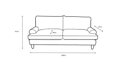 Shabby Chic Campbell large sofa in rockport cloud