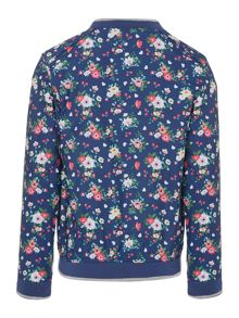 Benetton Girls Floral bomber jacket