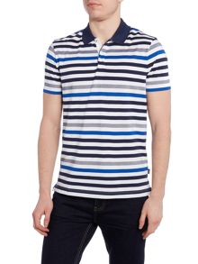 Hugo Boss Regular Fit Pallas Block Striped Polo