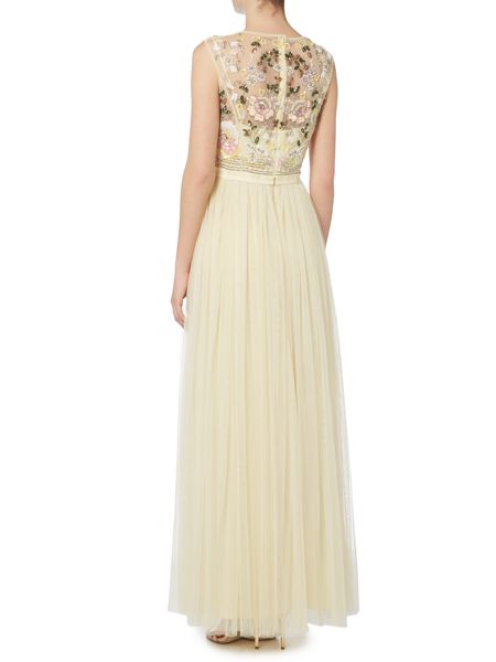 Needle and Thread Foliage cluster maxi dress