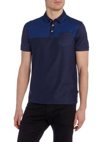 Hugo Boss Slim Fit Penrose Mercerised Textured Polo