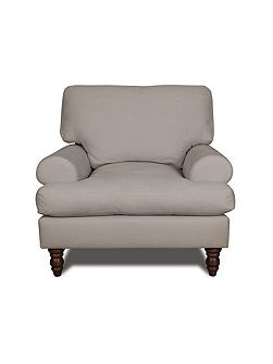 Campbell armchair in rockport cloud