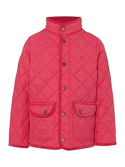Benetton Girls Quilted barn jacket