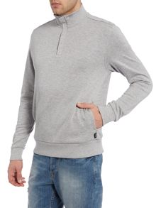 Hugo Boss Regular Fit Sidney Funnel Half Zip Jumper