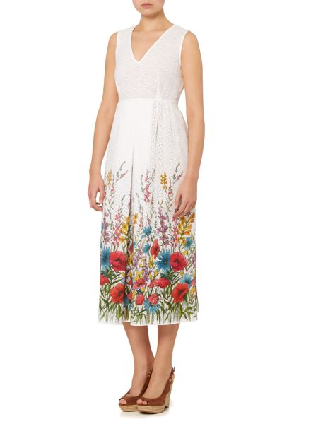 Max Mara Volpino midi floral textured dress