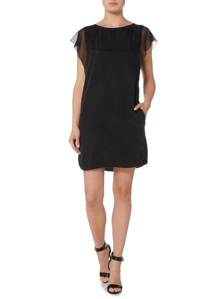 Hugo Boss Sheer sleeve shift dress