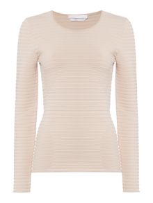 Hugo Boss Farani Ribbed Circles Structured Jumper