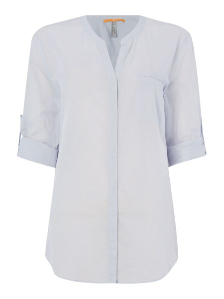 Hugo Boss Roll sleeve pocket shirt