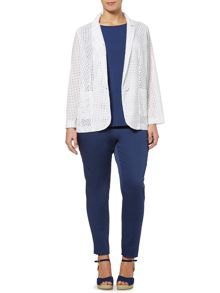 Marina Rinaldi Cometa blazer with pocket cutout detail