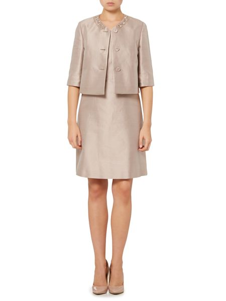 Max Mara Palmi embellished cropped silk jacket