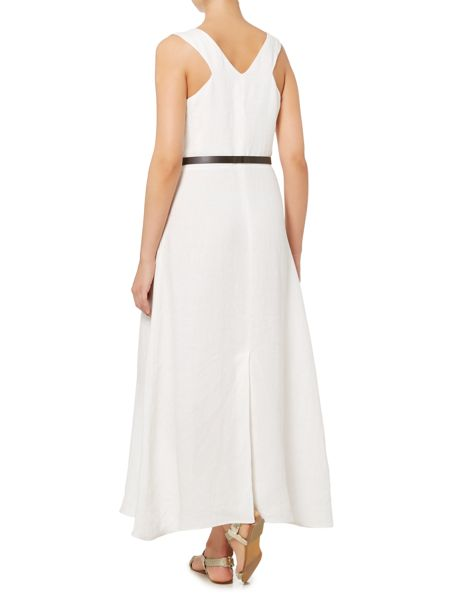 Max Mara Amico sleeveless maxi dress with belt