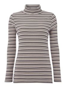 Stripe Longsleeve rollneck top
