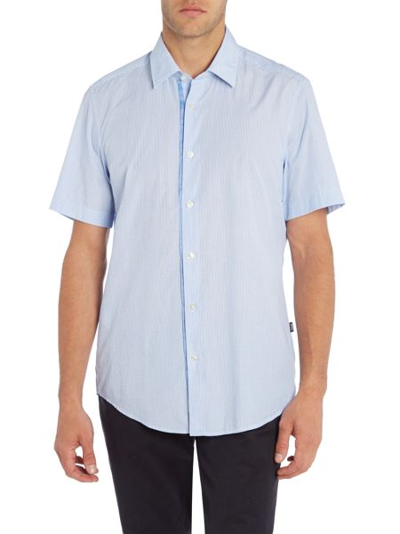 Hugo Boss Regular Fit Lucien Striped Short Sleeve Shirt