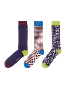 Ted Baker Samesok plain and spot sock gift pack