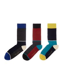 Ted Baker Treekid semi plain design sock gift pack