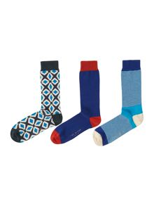 Ted Baker Ramzee organic mixed design sock pack