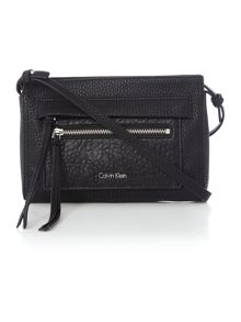 Cecile black crossbody clutch bag