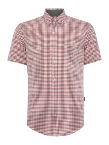 Hugo Boss Roddy Slim Fit Check Short Sleeve Shirt