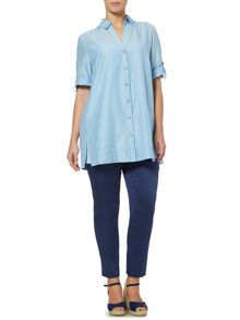 Marina Rinaldi Breve button up long sleeve shirt