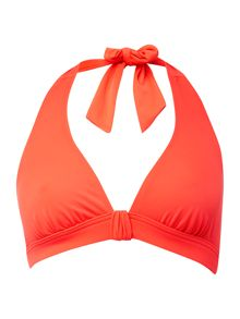 Dickins & Jones Coral built up triangle bikini top