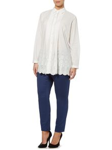 Marina Rinaldi Brioso lace button up shirt