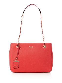 Saffiano red medium tote bag