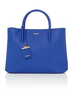 Saffiano blue large city tote bag