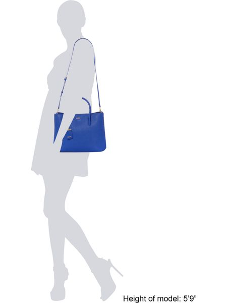 DKNY Saffiano blue large city tote bag