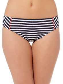 Dickins & Jones STRIPE CONTRAST FRILL BIKINI BRIEF