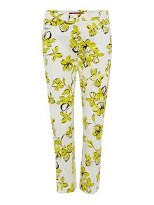 Max Mara Oxa abstract floral print trouser