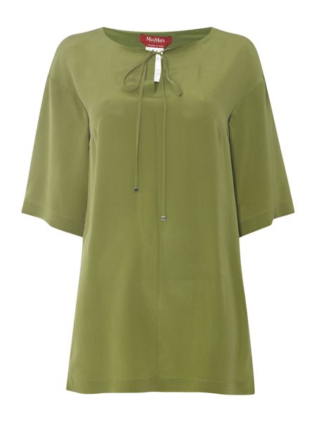 Max Mara Giuria woven short sleeved silk tunic